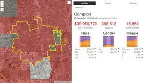 Screenshot of interactive Million Dollar Hoods map