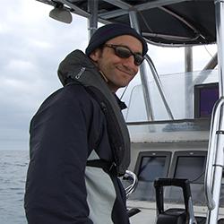 Aviv Solodoch on boat